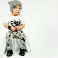 Hot Summer Ins Säuglings-Baby-Set für Kinder Short Sleeve Cartoon Lizard Printed Kurzarm Baumwolle T-Shirt + Hosen Kinder 2pcs Outfits Sets