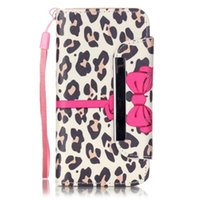Wholesale Iphone 4s Inside - Human skeleton Flowers leopard print magnetic clip TPU inside wallet cardslot Flipstand PU leather case for iphone 4S 5C 5S SE 6S PLUS