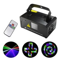 Wholesale Dj Laser Light 3d - SALE SUNY 3D Effect 8 CH DMX Mini IR Remote 400mW RGB Laser Scanner Lights DJ Party Disco Show Projector Led Stage Lighting TDM-RGB400