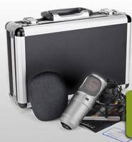 transmissão de microfones venda por atacado-AIBIERTE Som de Alta Qualidade Takstar SM-7B-M Estúdio Microfone Condensador Broadcasting E Gravação Microfone Mic Nenhum Cabo de Áudio QUENTE