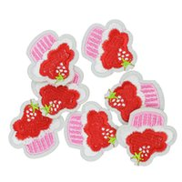 Wholesale Ice Cream Stickers - Diy ice cream patches for clothing iron embroidered patch applique iron on patches sewing accessories badge stickers on clothes DZ-015