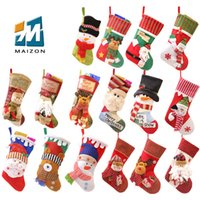 Wholesale Wholesale Surprise Bags - Wholesale Santa sacks snowman socks high quality low price colorful gift surprise candy bag outdoor christmas decorations