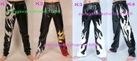 Pantaloni unisex Wrestling Nuovo 4 stile lucido Lycra Metallic Pantaloni Pantaloni Unisex Wrestling Pants Halloween Fancy Dress Cosplay Suit P117