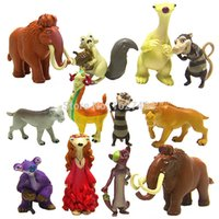 Wholesale Ice Age Pvc - 12pcs set Ice Age 5 Cartoon Movie Manny Ellie Diego Sid PVC Action Figures Anime Figure Figurines Kids Toys for Children