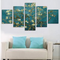 arte de la pared de impresión grande al por mayor-Pintado a mano Modern Abstract Flower Canvas Art Decoración de pintura al óleo HD imagen grande impreso en lienzo Wall Pictures No Framed