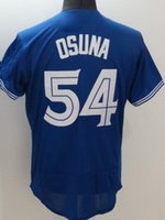 Wholesale wear baseball jersey men - mens STROMAN Baseball Jerseys discount Cheap mens Athletic Outdoor OSUNA CARTER OSUNA TOP Baseball Wear shirT TOP