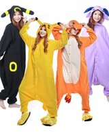 Wholesale Unisex Pikachu Onesie - Kigurumi Pajamas Poke Pikachu Charmander Umbreon Espeon Adult Unisex Anime Cosplay Costume Easter Halloween Party Pyjamas Onesie Sleepwear