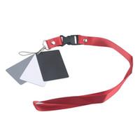 tarjeta gris digital al por mayor-Al por mayor- 2017 cámara digital 3 en 1 bolsillo blanco negro gris tarjetas de saldo 18% tarjeta gris con correa para el cuello para fotografía digital