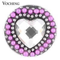 NOOSA botón de 18 mm a presión <b>Love Full</b> Filled Round Bead 3 colores Heart Snap Jewelry VOCHENG Vn-1113