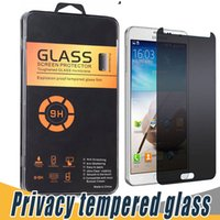 Wholesale S3 Mini Screen Guard Protector - Anti-Spy Screen Protector Privacy Tempered Glass Arc Edge Screen Guard Cover For Samsung G530 G720 G850 Note 2 3 4 5 G7106 S3 Mini