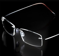 Wholesale memory read - Rimless Ultra light Flexible Memory Titanium Reading Glasses Diopter +1.00,+1.50,+2.00,+2.50,+3.00,+3.50