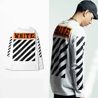 Wholesale High Quality kanye west t shirt Mens Off White T Shirt Hip Hop Long Sleeve t shirts Off White Tshirt For Men US EUR SIZE S XL