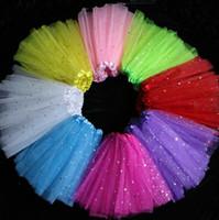 Wholesale Colorful Girl Skirt - Girls TUTU Skirt Kids Star Dancing Skirts Princess Dance Skirts Dance Dress Colorful Tutu Skirt Girls Party Dress OOA3023