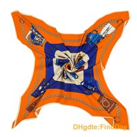 Wholesale Counter Bags - Classic orange wind H counter synchronized spring new silk denim ladies Chain Bag Pattern Scarf