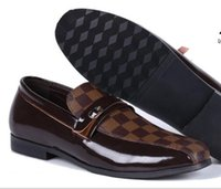 Wholesale British Bowtie Style - 2018 new spring men slip on shoes Breathable British style shoes Loafers Genuine leather Flat shoes size:40-47