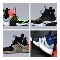 Wholesale Running Gifts - Christmas gift 2017 hot sale High-quality Acronym Airs Presto MID White Black Hot Lava running shoes for men sports shoes , size 40-46