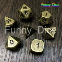 7pcs set NEW Metal Dice set d4 d6 d8 d10 d% d12 d20 for Board Game Rpg Dados juegos de mesa dungeons & dragon dice
