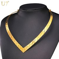 Déclaration unique de New Hot Choker collier en or 18K en acier inoxydable Collier Chunky africaine Collier femmes Bijoux __gVirt_NP_NN_NNPS<__ N557 gros