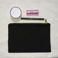 black canvas makeup bag