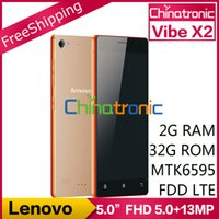 "Wholesale Android X2 - Original Lenovo VIBE X2 Mobile Phone MTK6595 Octa Core 4G FDD LTE Dual-SIM Multi-language 5.0""FHD 2G RAM+32GB ROM 5.0+13.0MP"