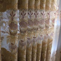 Wholesale Elegant Curtains For Windows - Vertical Hanging Curtains Embroidery Valance Curtain Elegant And Beautiful Decoration Drapes For Living Room Bedroom Sold Per Meter #Gauze