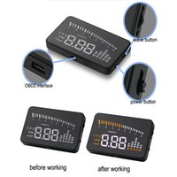 "Wholesale Wholesale Car Alarms - Auto HUD OBD II EOBD System Model Display X5 Multi-function 3"" Car HUD Vehicle-Mounted Head Up Display"