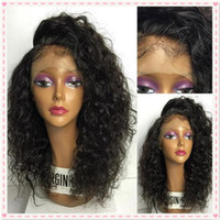 Wholesale Wigs For Black Ladies - Brazilian Wet and Wavy Lace Front Human Hair Wigs For Black Women Water Wave Glueless Full Lace Wigs 130% Density Bleached Knots