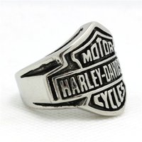 Wholesale Mens Biker Style Ring - 316L stainless steel Cool mens Silver biker ring Biker style ring wonderful jewelry