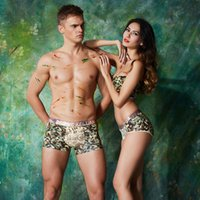 Wholesale Camouflage Boxers - The new 2016 modal couple underwear Camouflage fashion comfortable breathable lovers low-rise underwear underwear personality