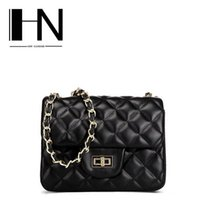 Wholesale Mini Classic Car - Factory direct sales in Europe and America brand handbag leather lozenge woman chain bag classic high-end leather mini car suture small pack