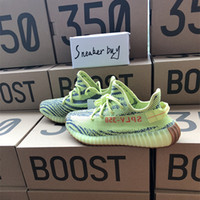 Wholesale Hard Soled Shoes - Semi Frozen Yellow Gum Soles Raw Steel Red B37572 Yellow Zebra Boost 350 V2 Beluga 2.0 Grey Bold Orange AH2203 Shoes
