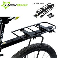 Wholesale Luggage Rack Disc Brakes - Wholesale-Rockbros Quick Release Style Bicycle Bike Rear Seat Luggage Rack Mountain Bike Rear Rack Stand V Brake Disc Bicycle Kickstand