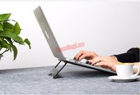 Wholesale Laptop Cool Tablet - Portable High Quality Aluminum Alloy Laptop Holder Cooling Stand Foldable Ergonomic Tablet PC  Notebook  Smartphone Stand