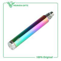 Wholesale Rainbow Adjustable E Cig Batteries - Vision Spinner Rainbow eGo Twist 1300mAh Variable Voltage Ego Battery Electronic Cigarette E cig Rainbow battery