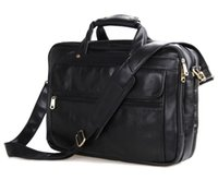 Wholesale Real Crocodile Skin Bags - Wholesale- Nesitu Black Men Messenger Bag Real Skin Genuine Leather Briefcase Portfolio Mens Office Bags Business Travel Bag #M7146A