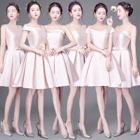 Wholesale Strapless Dinner Wedding Dresses - Women Lady Wedding Party Dress 2017 New Strapless Bra Slim Collar Fashion Bridesmaid Dinner Dress YAN-473