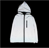 jaquetas reflexivas para homens venda por atacado-NOVO 3 m jaqueta reflexiva homens mulheres blusão jaquetas com capuz streetwear casacos 3 m jaqueta blusões S-4XL