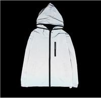 chaquetas reflectantes para hombre al por mayor-NUEVO 3m chaqueta reflectante hombres mujeres chaquetas rompevientos con capucha streetwear abrigos 3m chaqueta rompevientos S-4XL