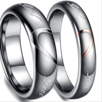 Oro carburo di tungsteno Anelli Wedding Bands in Comfort Fit Alliance gioielli per coppia squilla il formato 5-10 TU051RC