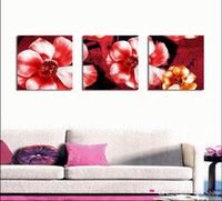 Wholesale beautiful flower art painting resale online - Modern Beautiful Flower Fine Floral Painting Giclee Print On Canvas Home Decor Wall Art Set30348