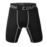 Wholesale Men Tight Football Shorts - Wholesale-Men compression tights base layer undershorts sports running outdoor soccer football shorts trousers