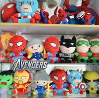 Wholesale Marvel Avengers Plush - 6 styles The Avengers Plush Toys Marvels Figure Dolls 18CM Superhero Plush dolls Movie The Avengers Action Figures Xmas gift Top QualityD560