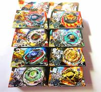 beyblade oyuncakları toptan satış-8 Takım / grup Çocuk Çocuk Boy Oyuncak Topaç Clash Metal 4D Beyblades Beyblade 8 Stil BB105 / 106/108/109/111/114/117 / Sınırlı Sayıda