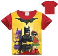 batman tişört çocukları toptan satış-2017 Batman Boys T Shirt Superman Çocuk giyim Bebek Kız T-shirt Çocuklar Boys Giyim için Tees Tops