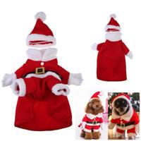 animal de compagnie chien de toison achat en gros de-Vêtements de fête de chien vêtements de dressage regard chaud mignon Vertical debout costumes 6 tailles polaire parfait pour les fournitures pour animaux de compagnie de fête de Noël