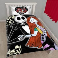 Wholesale Dark Duvet - Wholesale-New Arrival Dark Bedding Nightmare Before Christmas Duvet Cover Set Gifts Home Quilt Cover and Pillow Case Twin Full Q
