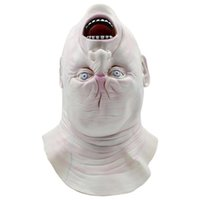 Wholesale haunted house masks - New Invert Face Mask Horror Scary Profiled Mask Ghoul Party Masque Latex Face Masks Haunted House Prank Halloween Masks