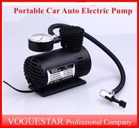 Wholesale 12v Mini Air Pump - Auto Electric Pump Air Compressor Mini 12V Car Auto Portable Pump Tire Inflator pumps Tool 300PSI ATP019