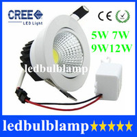 5W 7W 9W 12W Yes LED Newest 5W 7W 9W 12W COB Led Downlight Dimmable Recessed Led Ceiling Light White Shell High Lumen For Home Light AC 110-240V CE ROHS