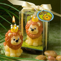 Wholesale led party accessories - Children Birthday Party Creative Smokeless The Lion King Small Scented Making Candle Wedding Decoration Souvenir Accessory